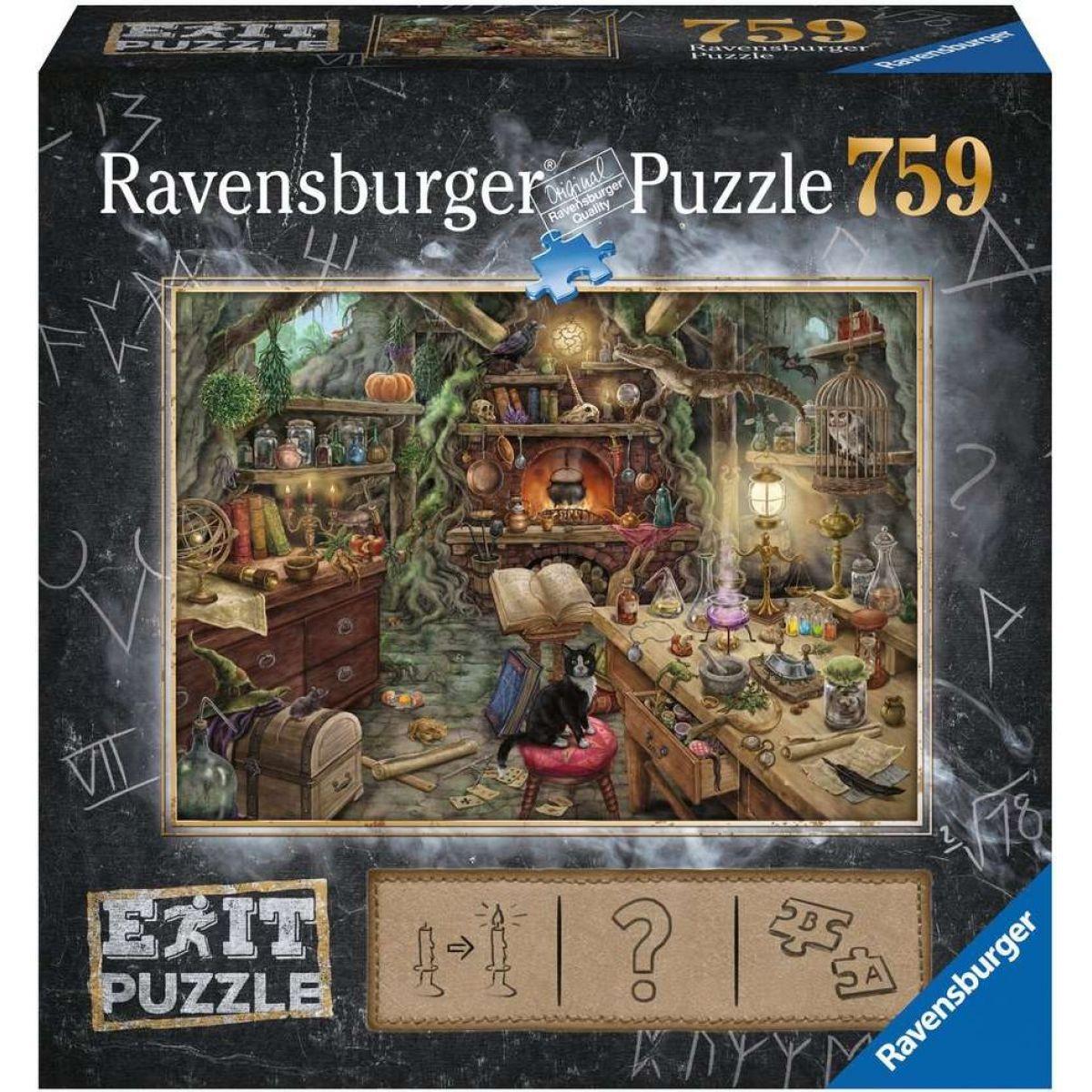 Ravensburger puzzle 199525 Exit Puzzle Čarodejnícka kuchyne 759 dielikov - Poškodený obal