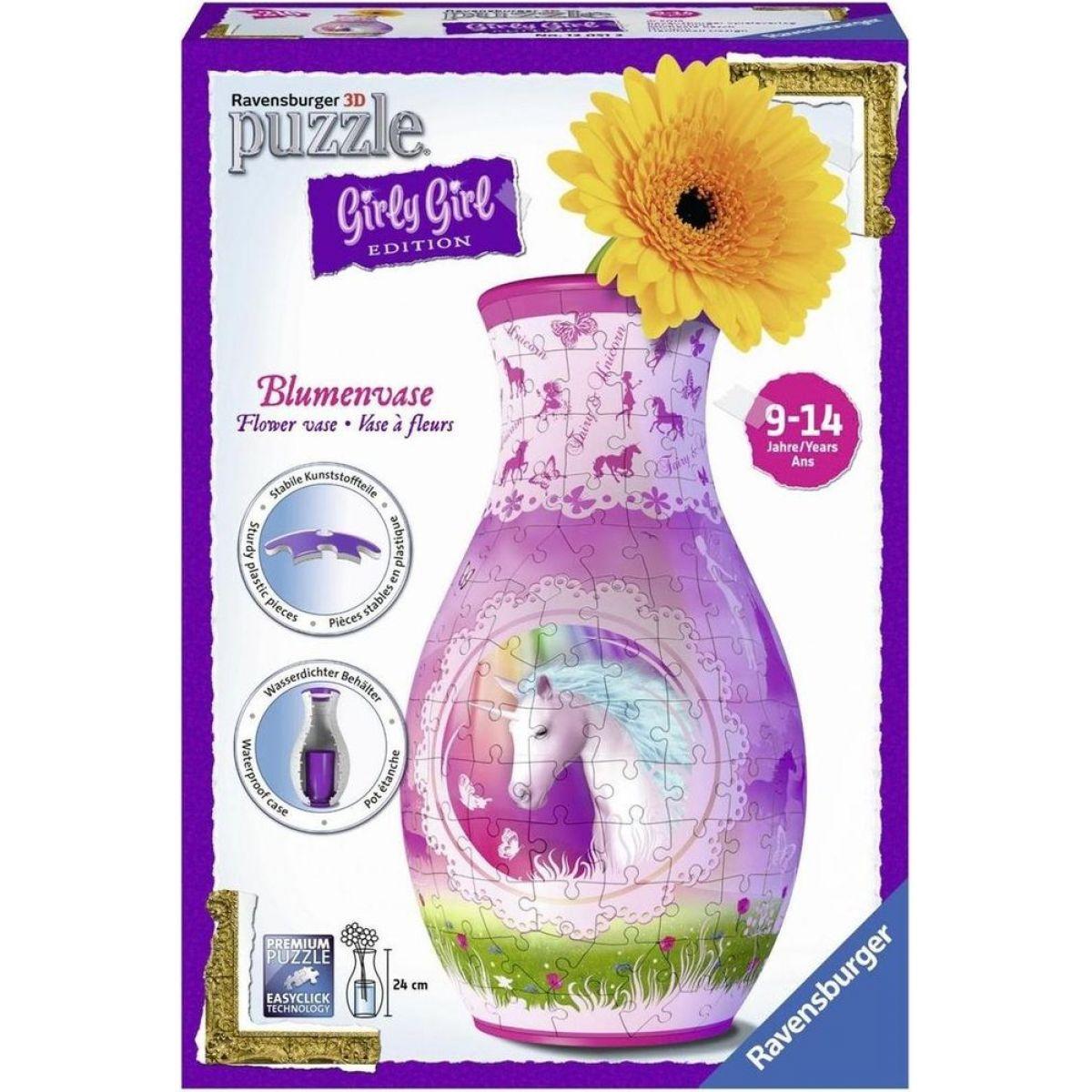Ravensburger 3D Girly Girl Váza Jednorožec