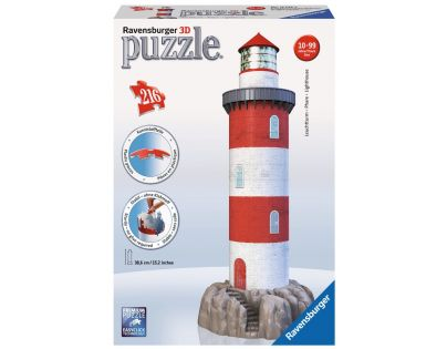 Ravensburger Puzzle 3D Maják v příboji 216 dílků