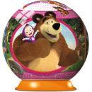 Ravensburger Puzzle 3D Máša a medvěd puzzleball 72 dílků 2