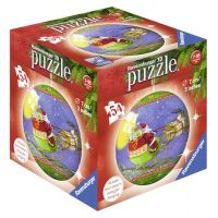 Ravensburger Puzzle 3D Merry Chrismas puzzleball 54 dílků Santa na saních