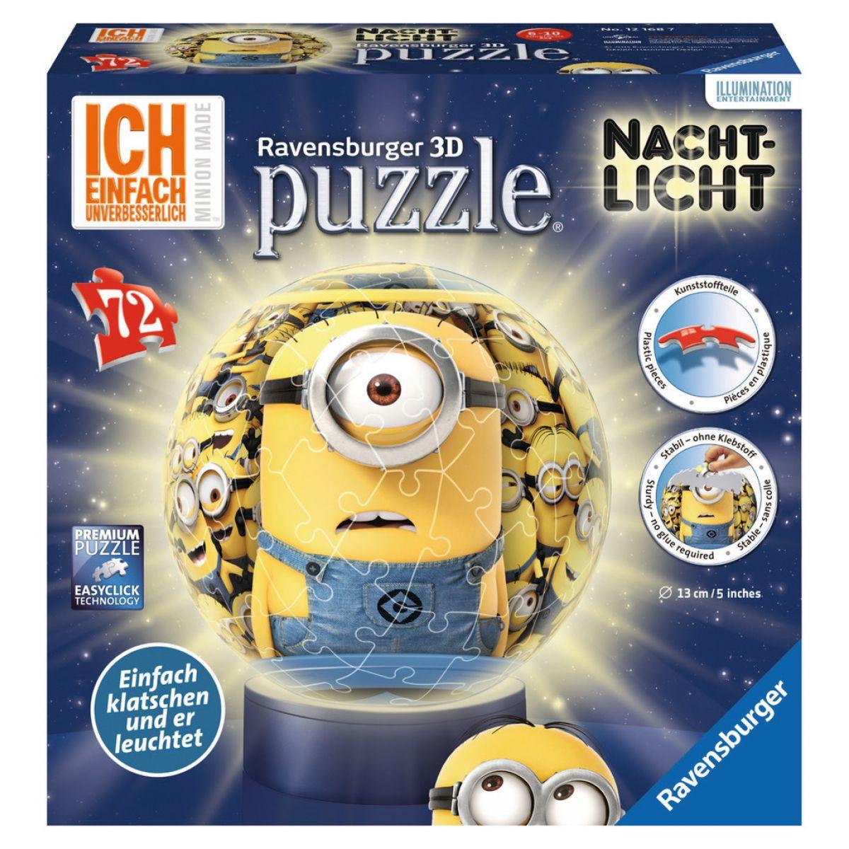 Ravensburger Mimoni Puzzleball svítící 72 dílků