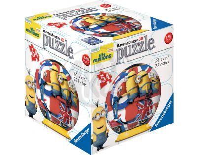 Ravensburger 3D Mimoni Movie Puzzleball 54 dílků - Mimoni a motorka