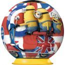 Ravensburger 3D Mimoni Movie Puzzleball 54 dílků - Mimoni a motorka 2