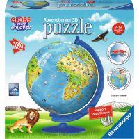 Ravensburger Puzzle 3D Zeměkoule se zvířaty puzzleball 180 dílků