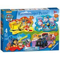 Ravensburger Puzzle Tlapková Patrola 4 v 1 tvarové puzzle