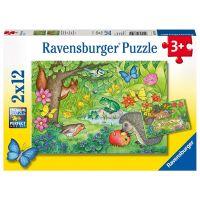 Ravensburger Puzzle 76109 Zvířata v zahradě 2x12 dílků