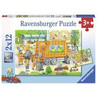 Ravensburger Puzzle 76178 Popeláři a ulice 2x12 dílků