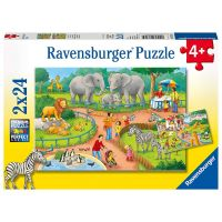 Ravensburger Puzzle Den v Zoo 2 x 24 dílků