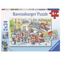 Ravensburger Puzzle Hasiči 2 x 24 dílků
