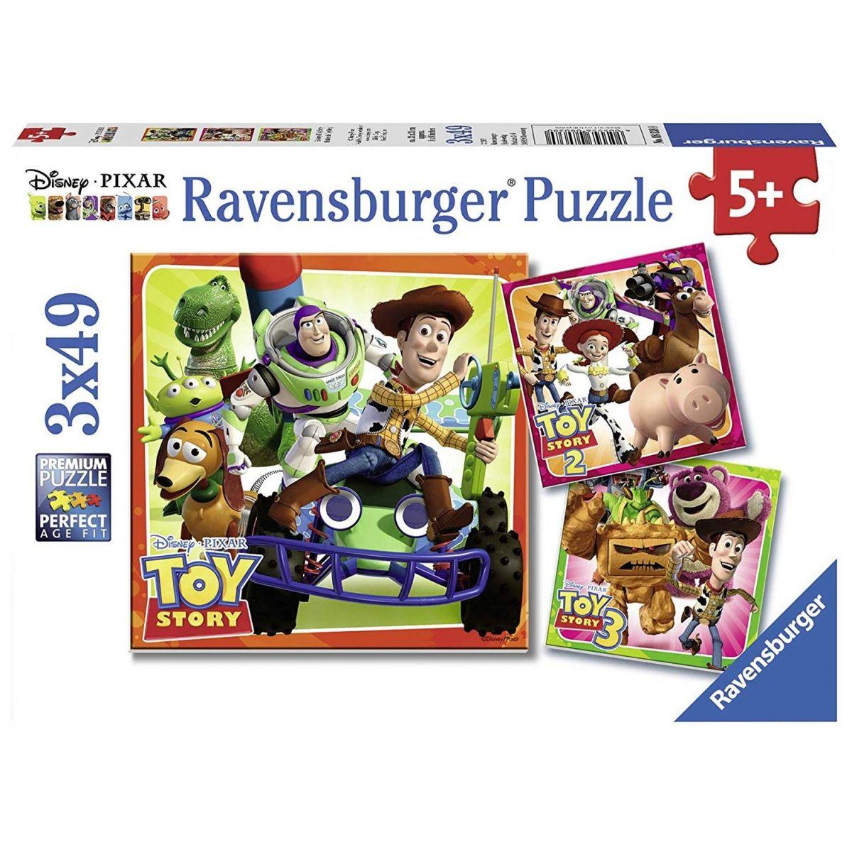 Ravensburger Puzzle Toy Story historie hraček 3 x 49 dílků