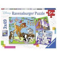 Ravensburger Puzzle Disney kamarádi 3 x 49 dílků