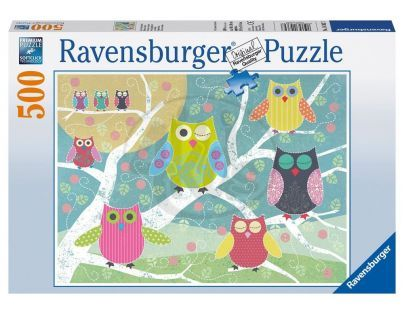 Ravensburger Barevné sovy 500 dílků