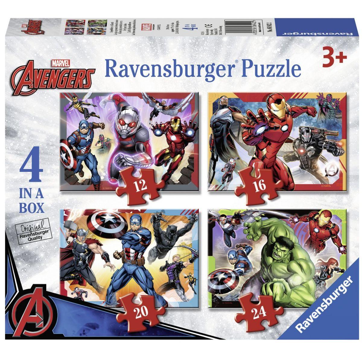 Ravensburger Puzzle Disney Marvel Avengers 4 x puzzle v boxu