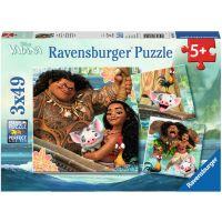 Ravensburger Puzzle Disney Vaiana 3x49 dílků
