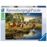Ravensburger Puzzle Divocí koně 1500 dílků