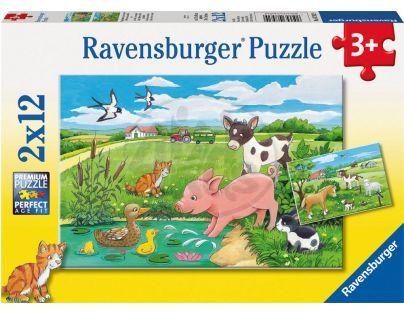 Ravensburger Puzzle Domácí zvířátka 2 x 12 dílků