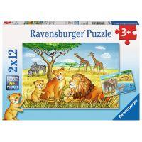 Ravensburger Puzzle Exotická zvířata 2 x 12 dílků