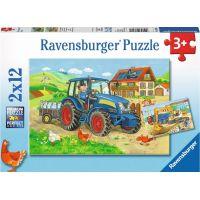 Ravensburger Puzzle Farma a stavba 2x12 dílků