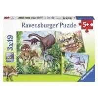 Ravensburger Fascinující dinosauři 3 x 49 dílků