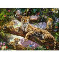 Ravensburger puzzle Hrdá leopardí matka 1000 dielikov 2