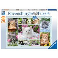 Ravensburger Puzzle Kotě v koši 500 dílků