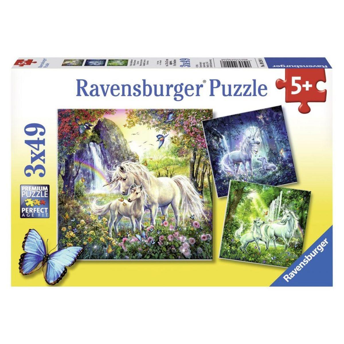 Ravensburger Krásní Jednorožci 3 x 49 dílků