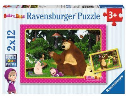 Ravensburger Máša a medvěd 2 x 12 dílků