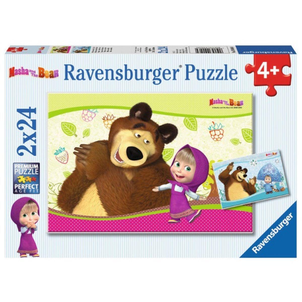 Ravensburger Máša a medvěd 2 x 24 dílků