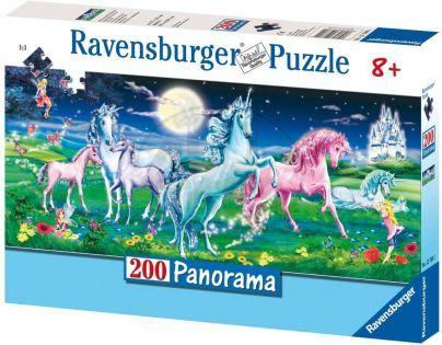 Ravensburger Panorama Úžasný jednorožci 200 dílků