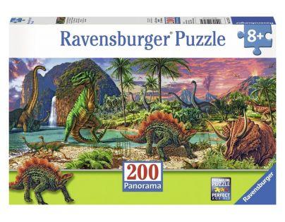 Ravensburger Panorama V zemi dinosaurů 200 dílků