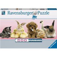 Ravensburger Puzzle Panorama Zvířecí přátelé 500 dílků