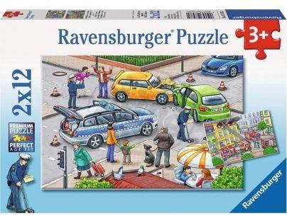 Ravensburger Policie a hasiči 2 x 12 dílků