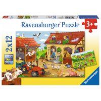Ravensburger Puzzle Práce na farmě 2 x 12 dílků