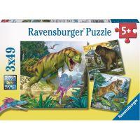 Ravensburger Puzzle Pravěká zvířata 3x49dílků