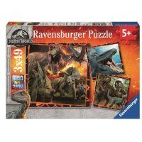 Ravensburger Puzzle Premium Jurský svět Zánik říše 3 x 49 dílků