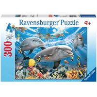 Ravensburger Puzzle Premium Karibský úsměv delfínů 300XXL dílků