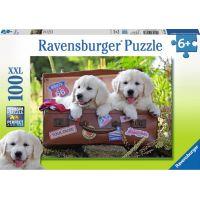 Ravensburger puzzle Psí oddych 100 dílků