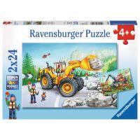 Ravensburger Puzzle Stroje v akci 2 x 24 dílků