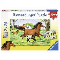 Ravensburger Svět koní 2 x 24 dílků