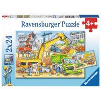 Ravensburger Puzzle Tvrdá práce 2x24 dílků