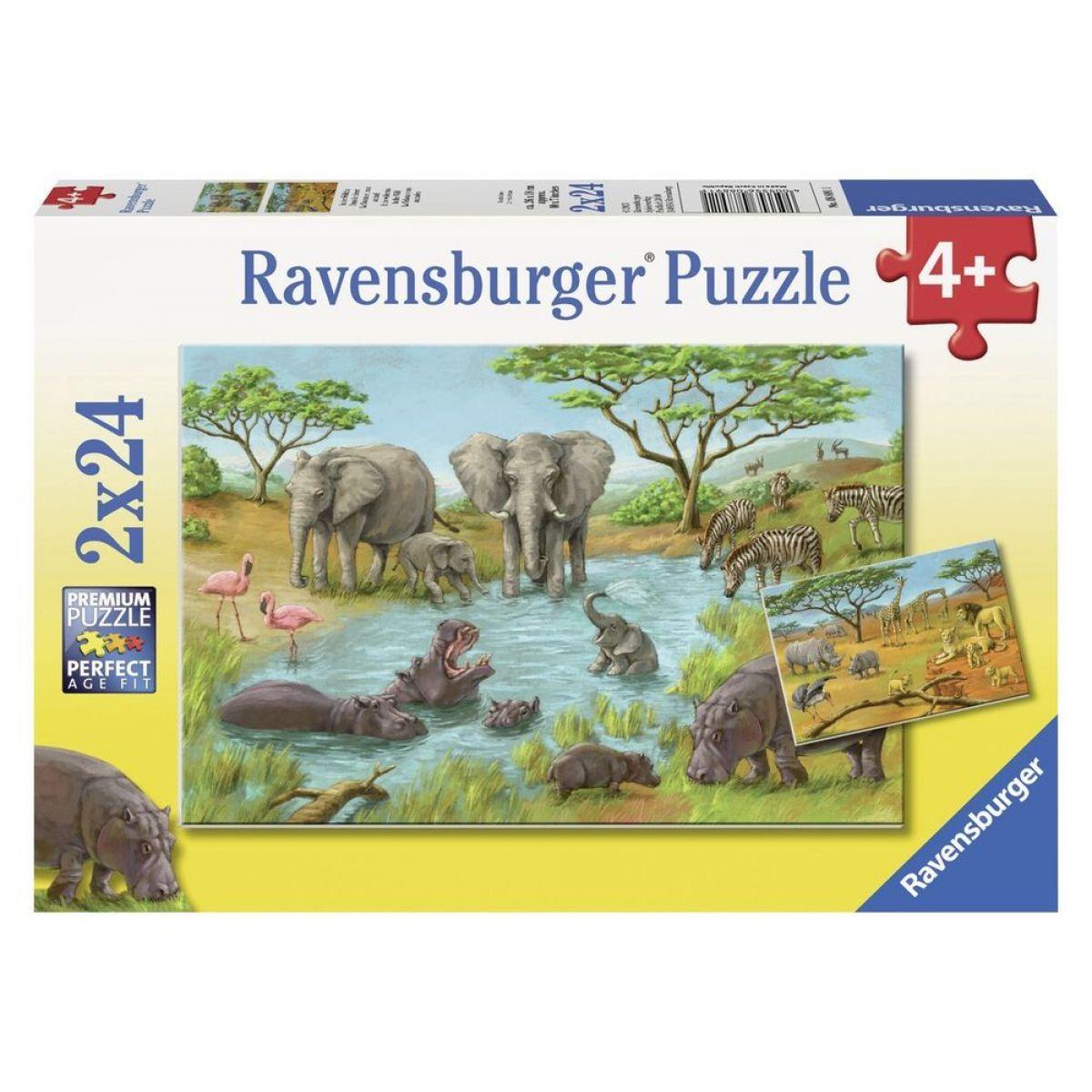 Ravensburger V divočině 2 x 24 dílků