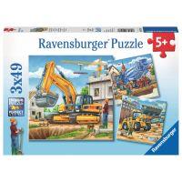 Ravensburger Puzzle Velká nákladní vozidla 3 x 49 dílků