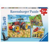Ravensburger Puzzle Velké pracovní stroje 3 x 49 dílků