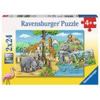 Ravensburger Puzzle Vítejte v Zoo 2 x 24 dílků