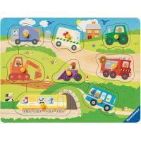Ravensburger Puzzle Wooden 036844 Oblíbená vozidla 8 dílků
