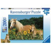 Ravensburger Puzzle XXL Šťastné koně 200 dílků