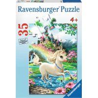 Ravensburger puzzle Zámek Jednorožce 35 dílků