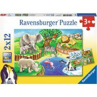 Ravensburger Puzzle Zvířata v Zoo 2 x 12 dílků