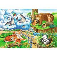 Ravensburger Puzzle Zvieratá v ZOO 2 x 12 dielikov 3